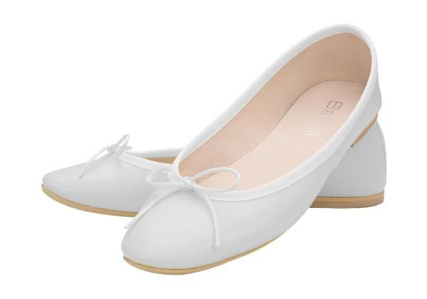 pretty nice eab5f 15682 Ballerinas weiß Glattleder Batelli Ballerina weiss white