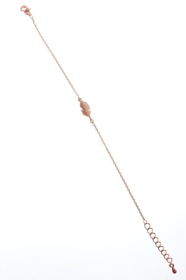 Armband mit Feder Motiv rosévergoldet   Perlenmarkt