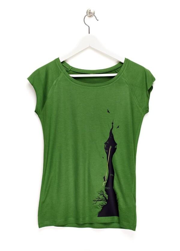 Rapunzel - Damen T-Shirt grün | ESCA