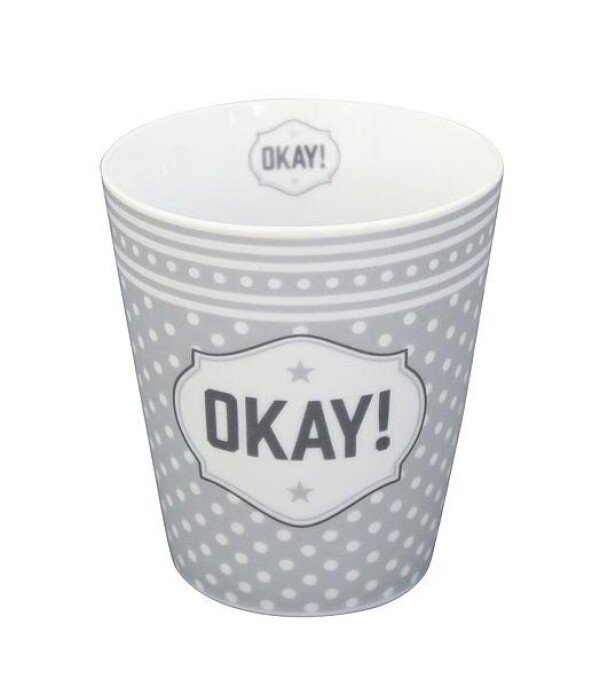Tasse OKAY Cafebecher Becher Mug   WohnGlanzVilla