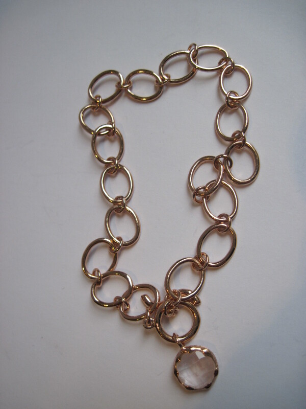 rosévergoldetes Armband mit Rosenquarz   mancherlei