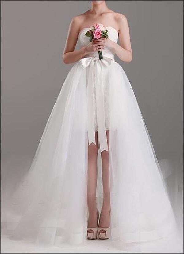 2 In 1 Brautkleid | 2 In 1 Brautkleid Mit Abnehmbarem Tullrock Von Lafanta Abend Und