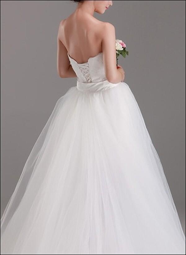 2-in-1 Brautkleid mit abnehmbarem Tüllrock von Lafanta | Abend- und ...