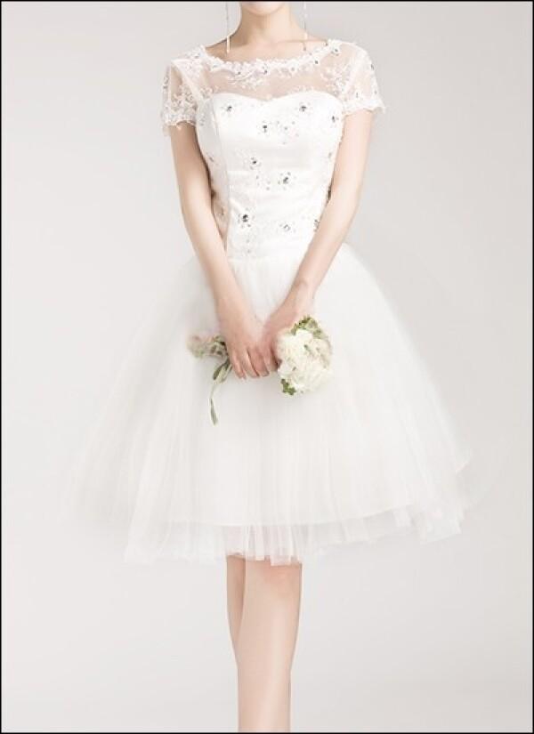 Spitzen Brautkleid Mit Tullrock Vintage Look Von Lafanta Abend