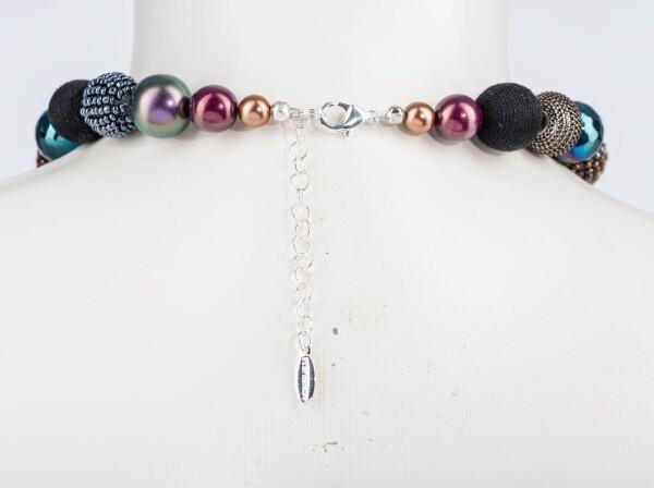 Kurze Perlenkette New Bowls Multi Metallic aus edlem Materialmix   Perlenmarkt