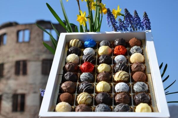 Auswahl von 40 Schokoladentrüffeln | Vorbach Pralinenmanufaktur