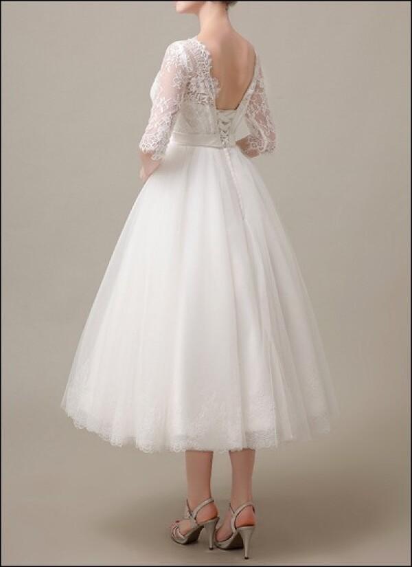 50er Jahre Brautkleid Mit Spitzenarmeln Von Lafanta Abend Und