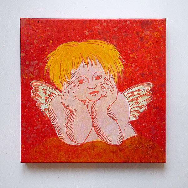 Unikat Siebdruck ´´Denkender Engel 3´´