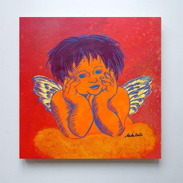 Unikat Siebdruck ´´Denkender Engel 6´´