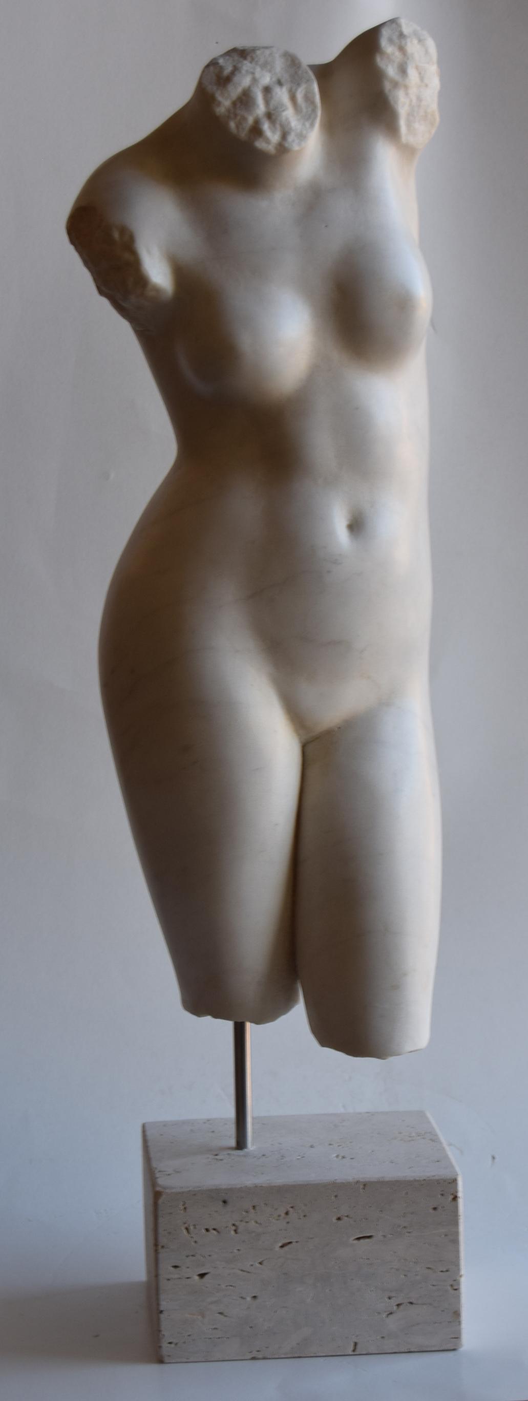 Weiblicher Torso-Venus2 in weißem Carrara-Marmor