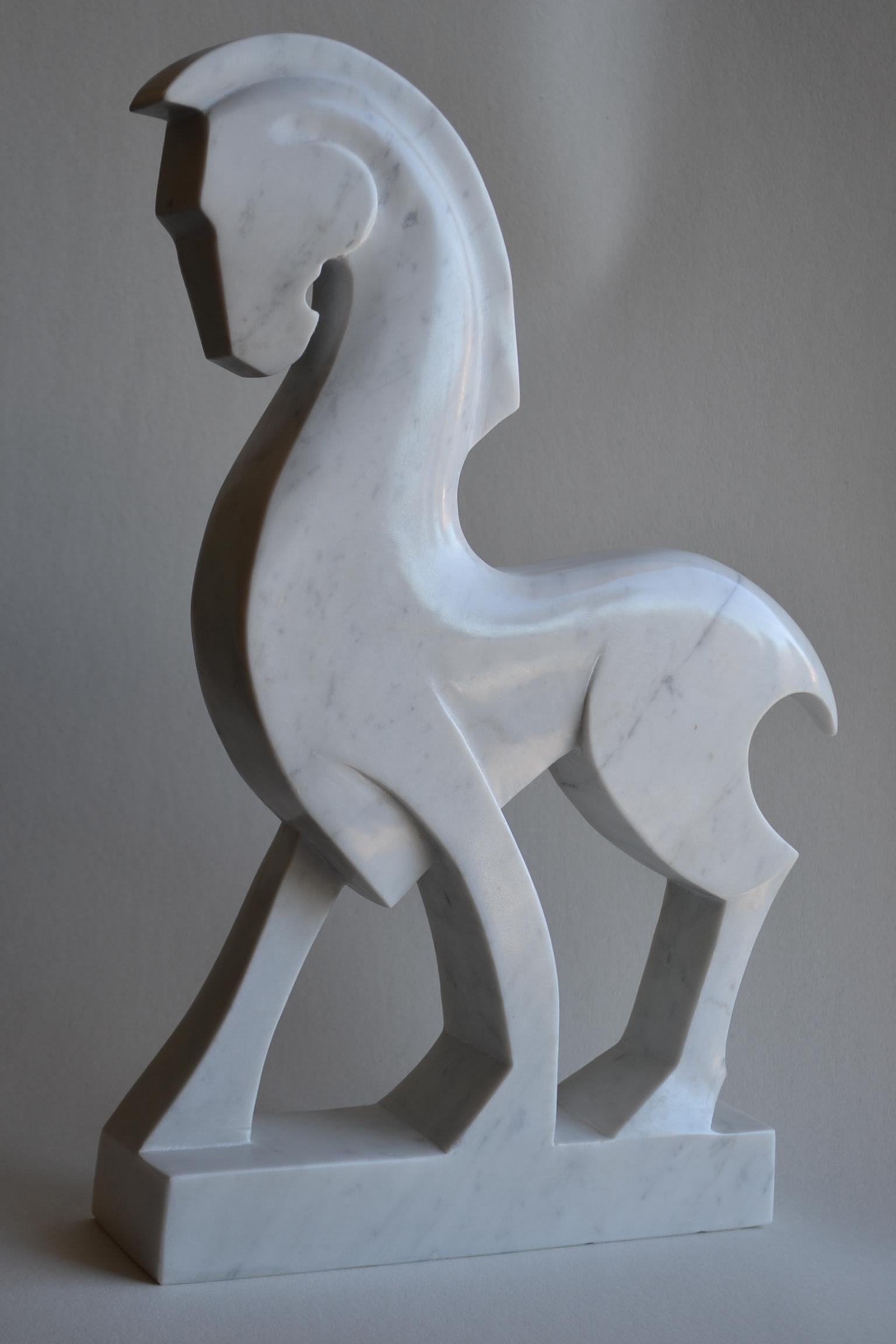 Weißes Pferd - weißer Carraramarmor