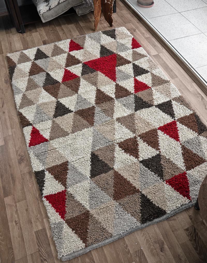 Wool rug - Triangle