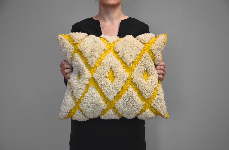 Kilim wool pillow - Diamonds