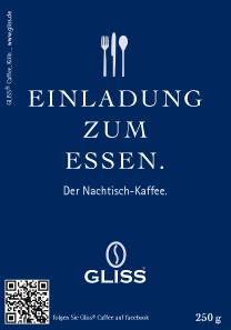 GLISS® Motto-Kaffee | Einladung zum Essen´´´´