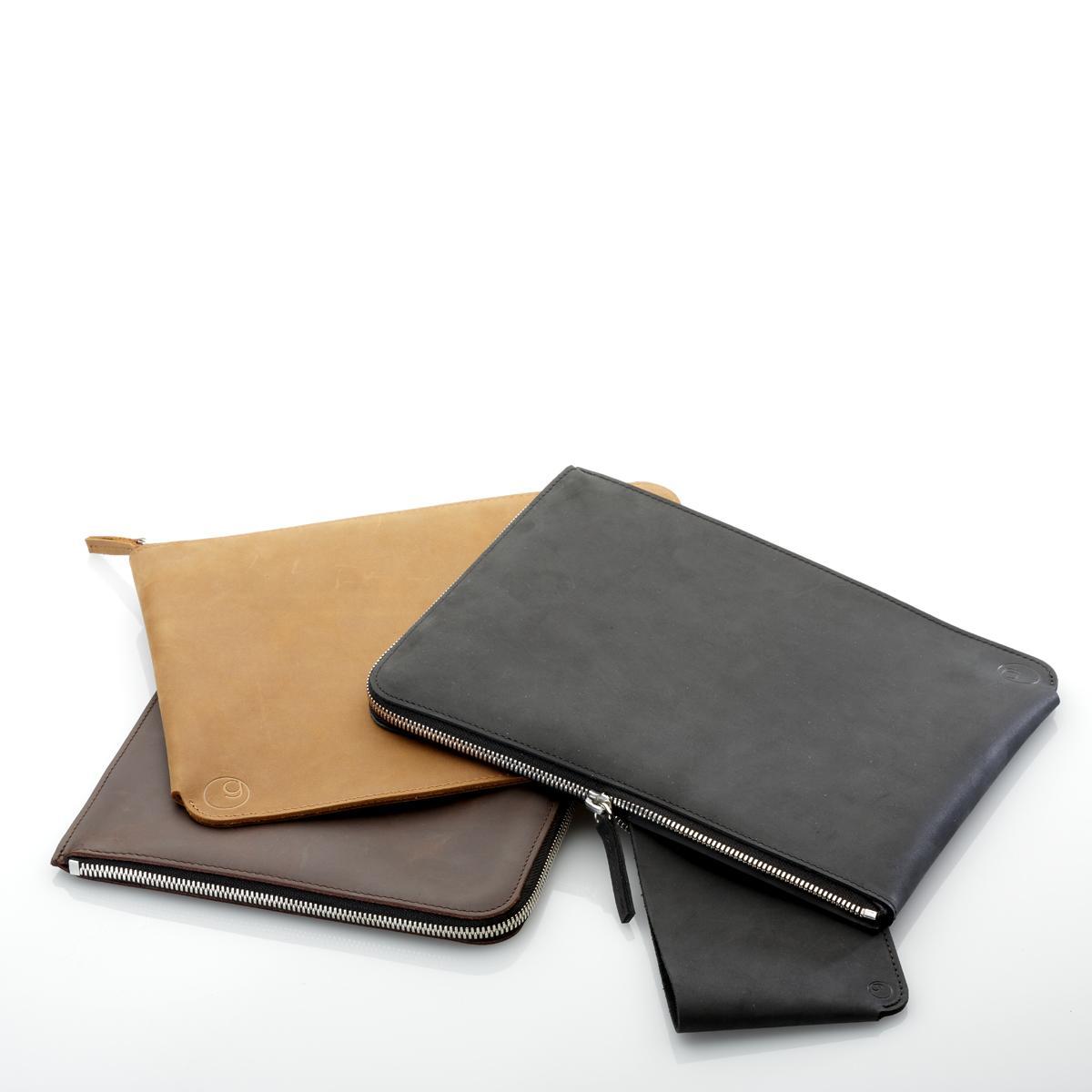 Leder MacBook Tasche mit Reißverschluss