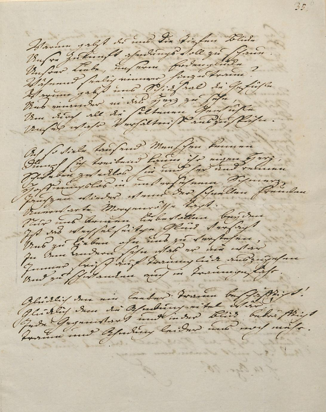 Goethe an Charlotte von Stein, Faksimile
