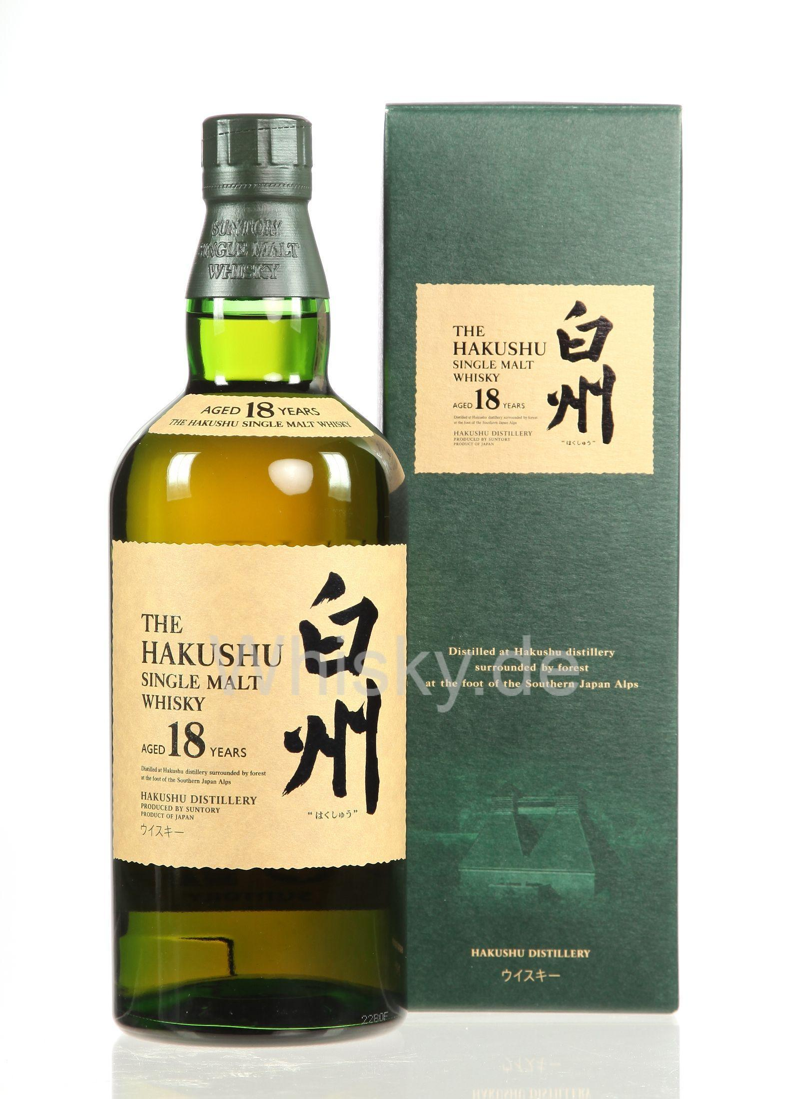 THE HAKUSHU SIngel Malt Whisky, 18 Y, 70 cl. 43...
