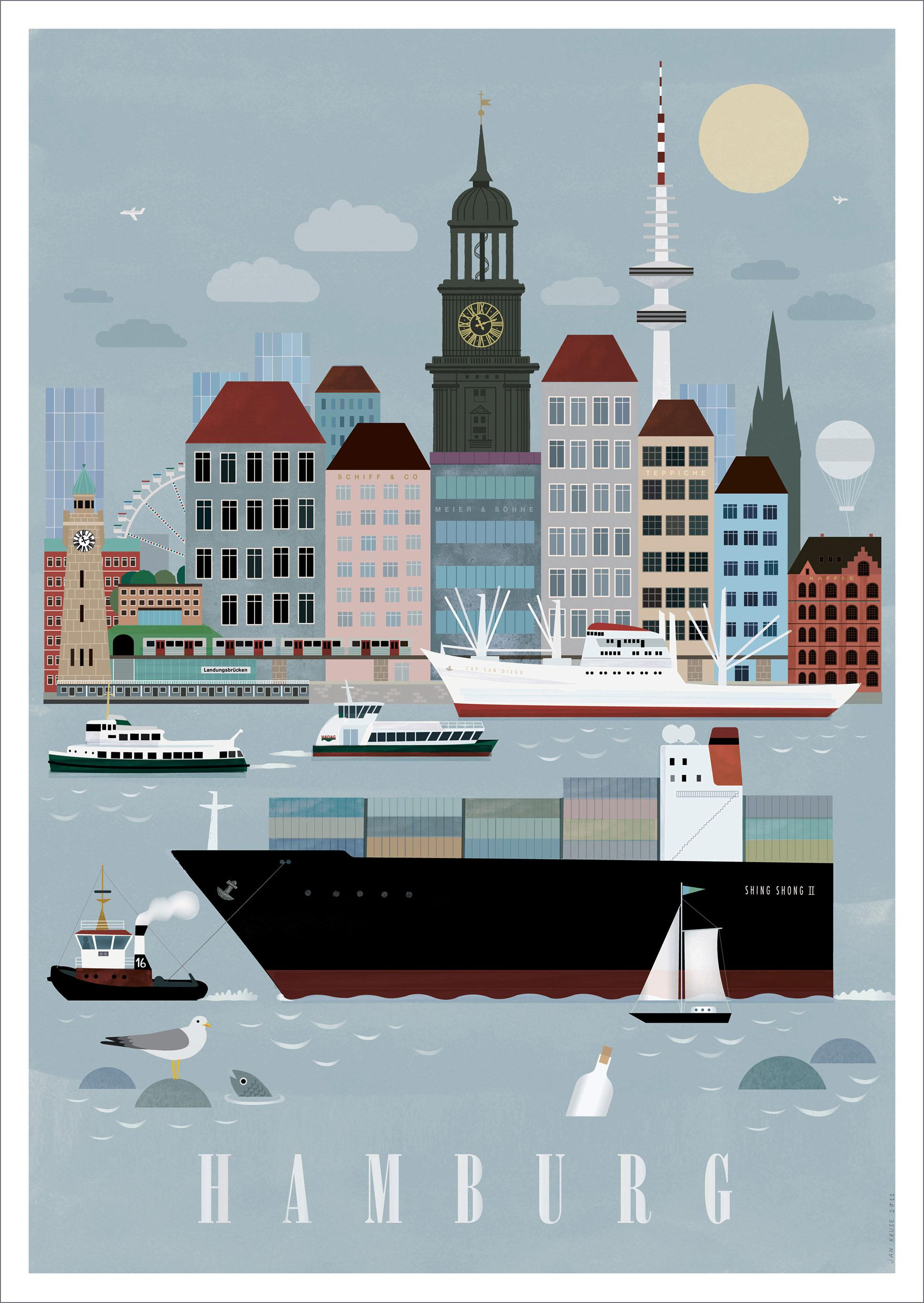 Hamburg City Poster