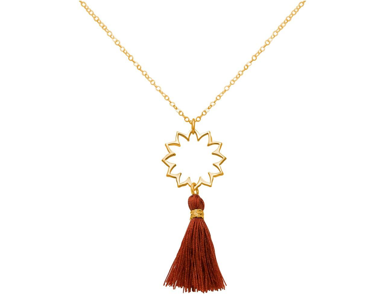 Halskette Anhänger 925 Silber Vergoldet Mandala...