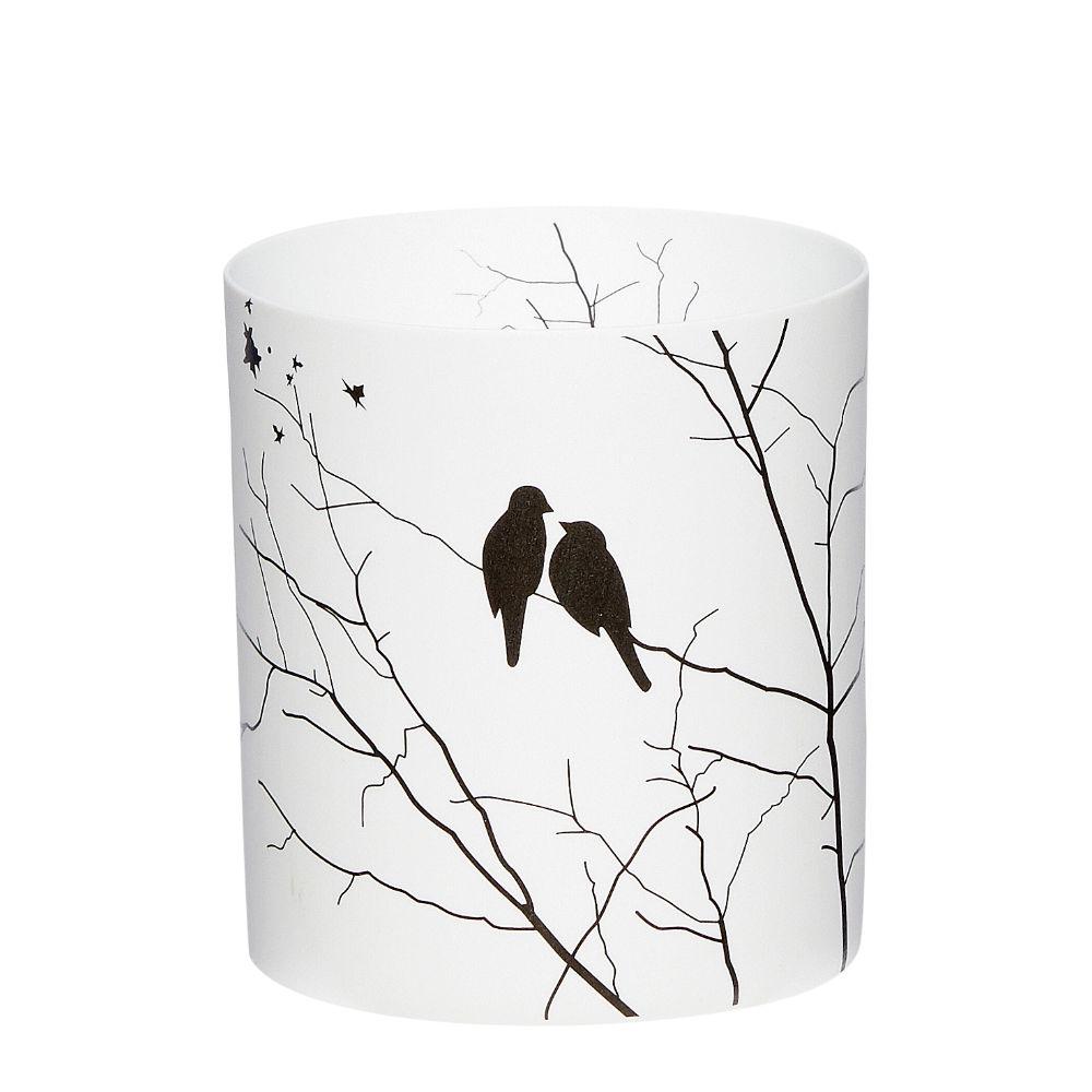Windlicht Vogel - Schwarz