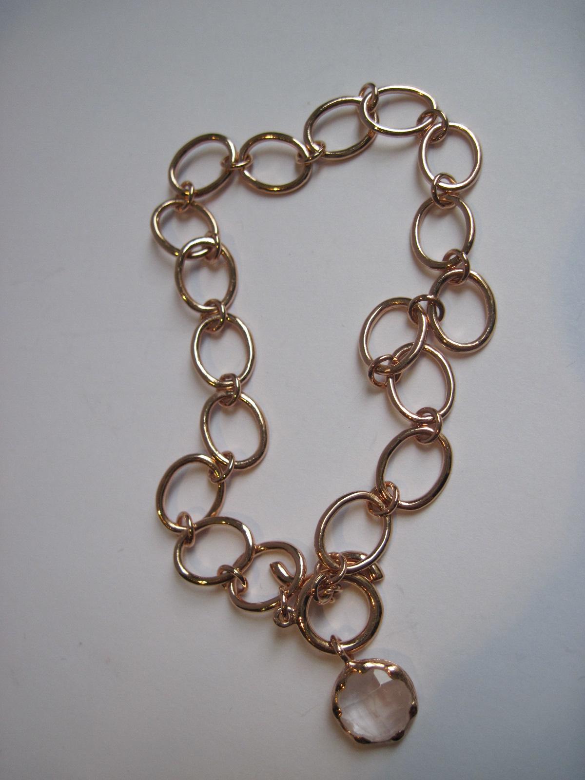 rosévergoldetes Armband mit Rosenquarz