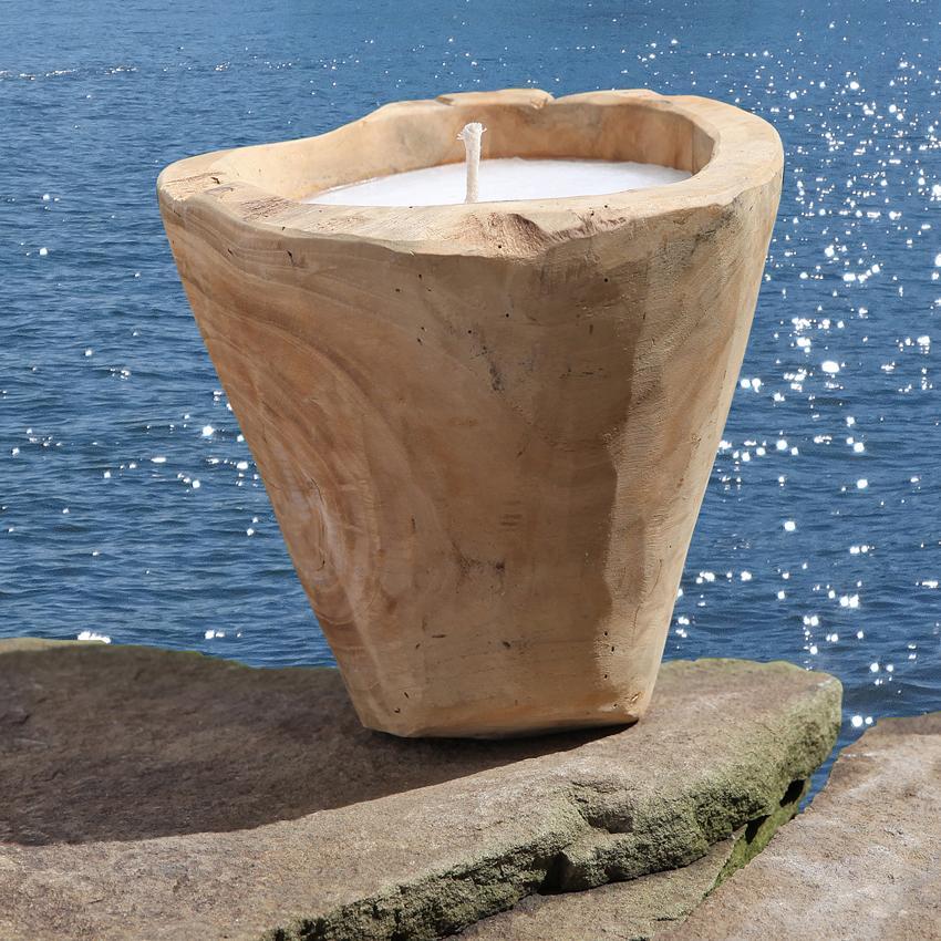 Kerze im Topf für Outdoor