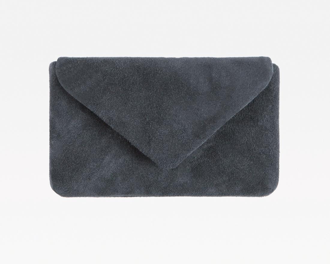 Leatcher Smartphone Clutch Velours-Grey