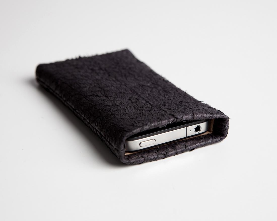 IPhone Case Lachs, Schwarz