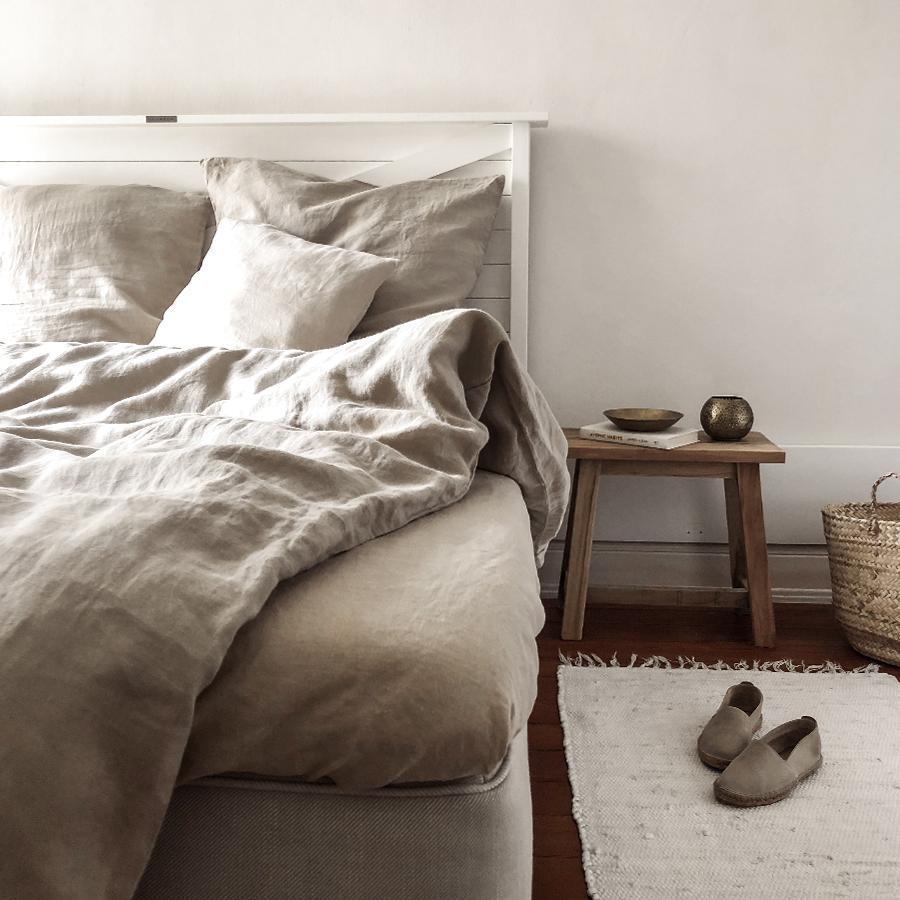Linn Natural Linen Bed Sheet Lundkvist By Lundkvist Home Living