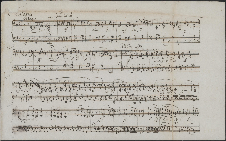 Mendelssohn Bartoldy - Klavierfantasie, Faksimile