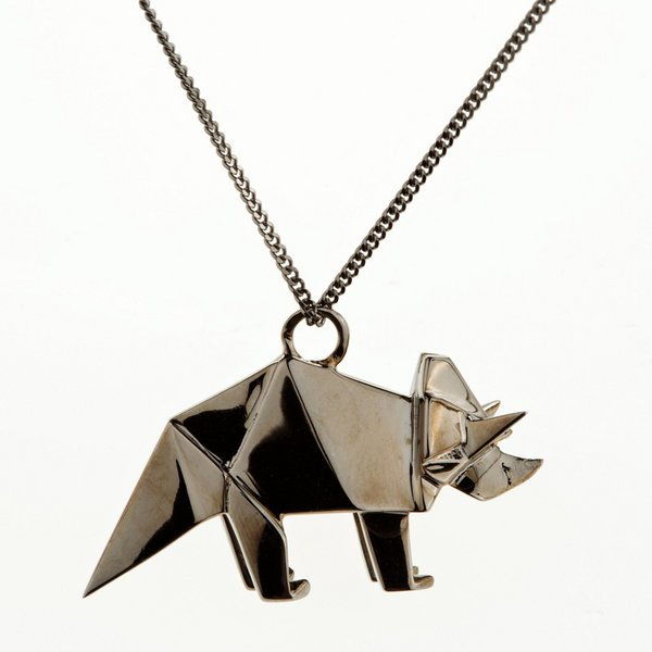 Triceratops Origami Necklace