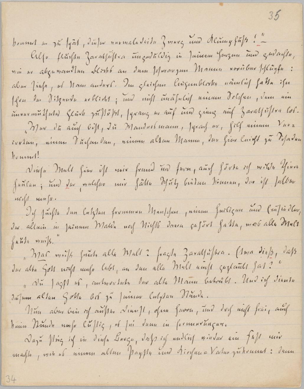 Nietzsche - Also sprach Zarathustra, Faksimile