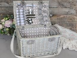 French Chic Antique Picknickkorb für 4 Personen...
