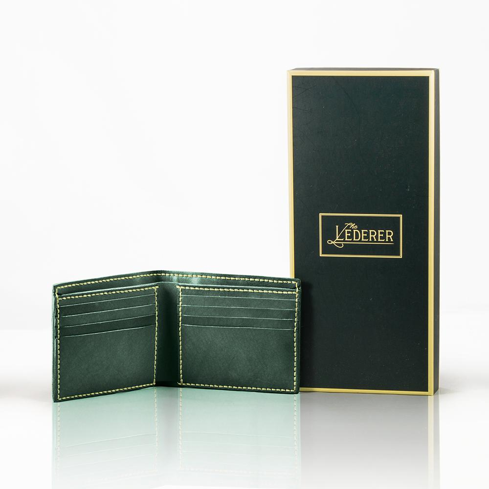 8-Card Short Wallet - Leder Stitching Pack