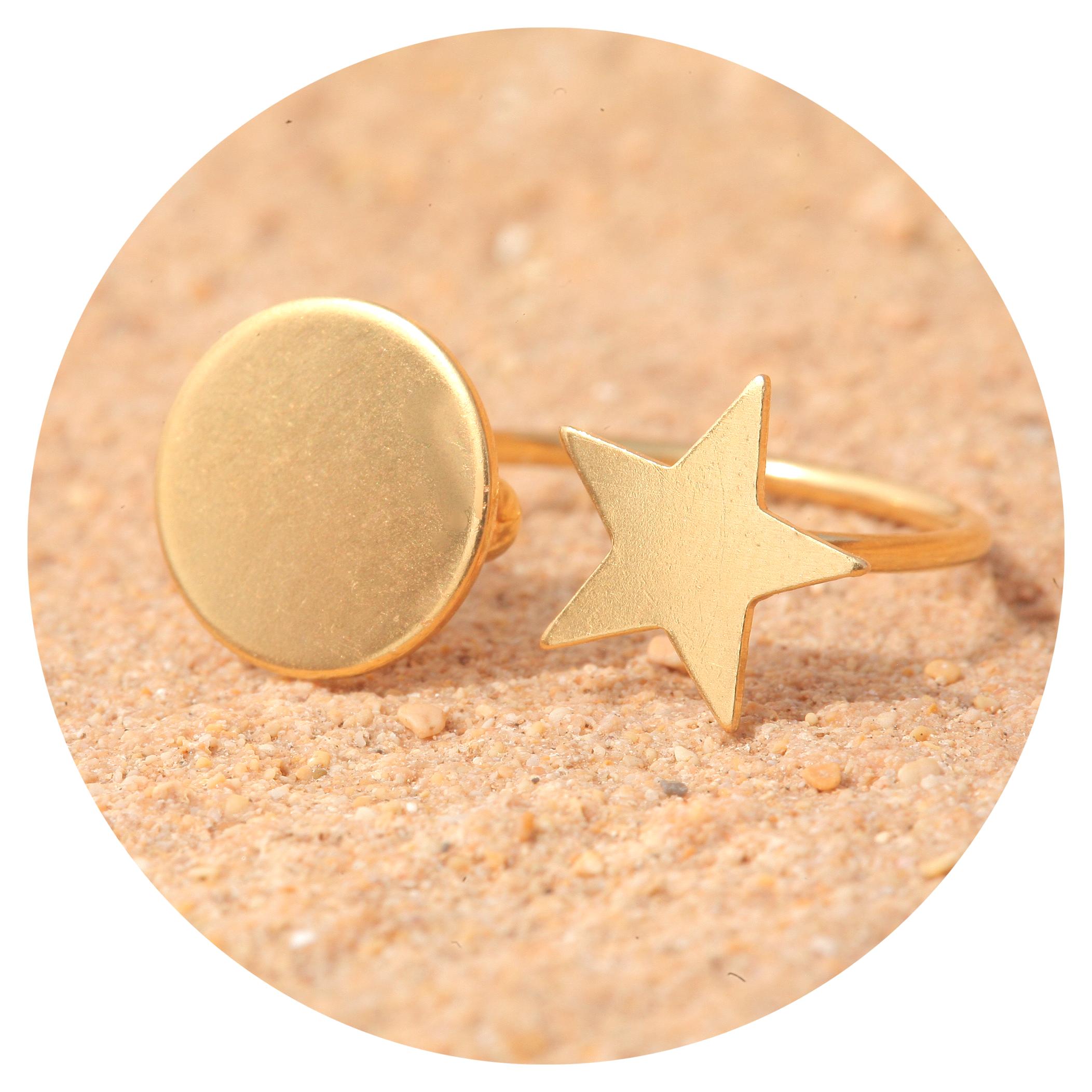 artjany Ring star & sun gold