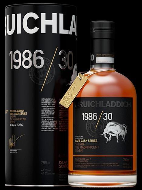 Bruichladdich 1986/30, 30Y, Rare Cask Series Sh...