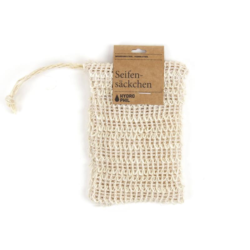Hydrophil Seifensäckchen aus 100% Sisal (biologisch abbaubar)