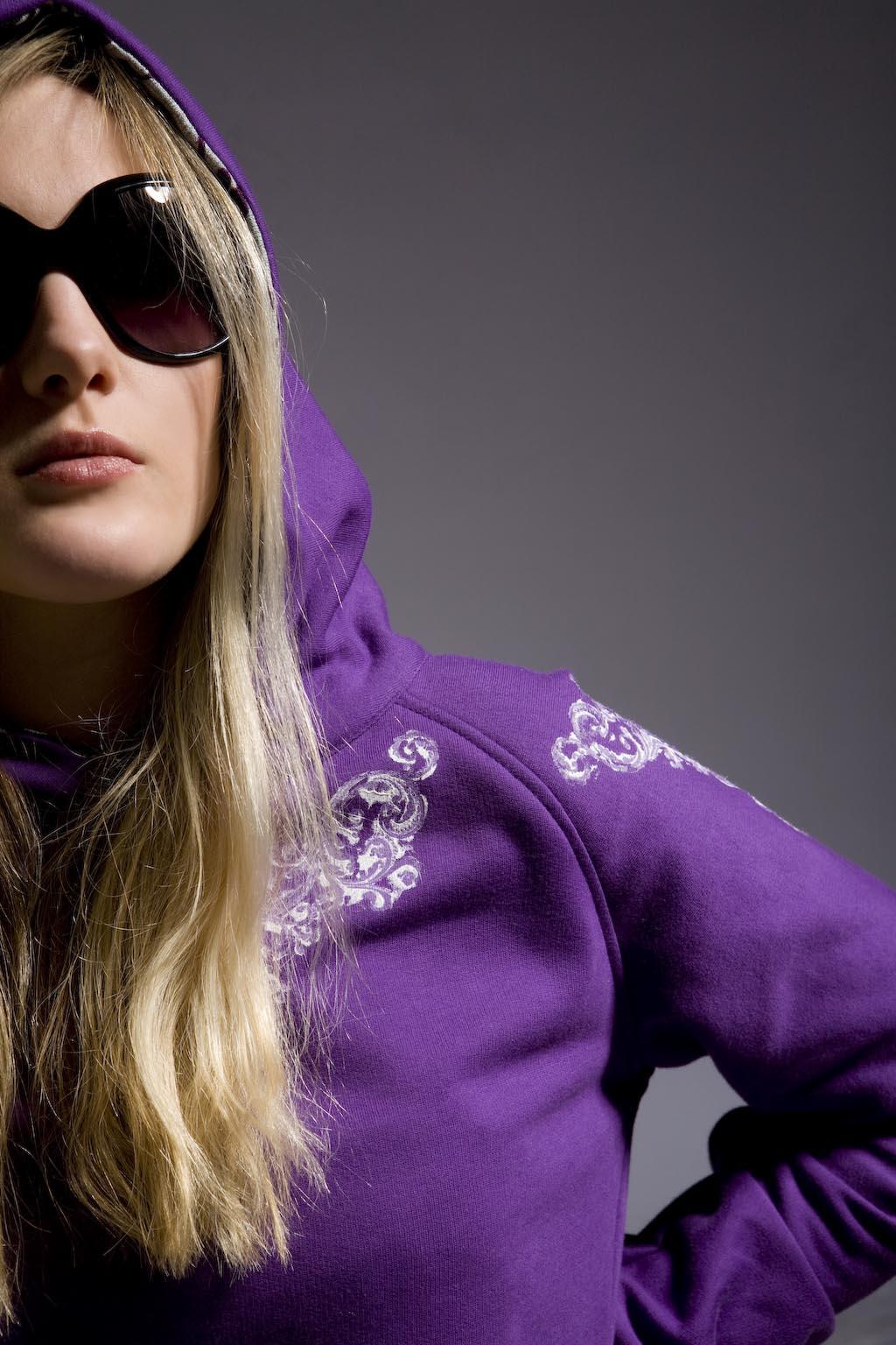 Sweatshirt violett