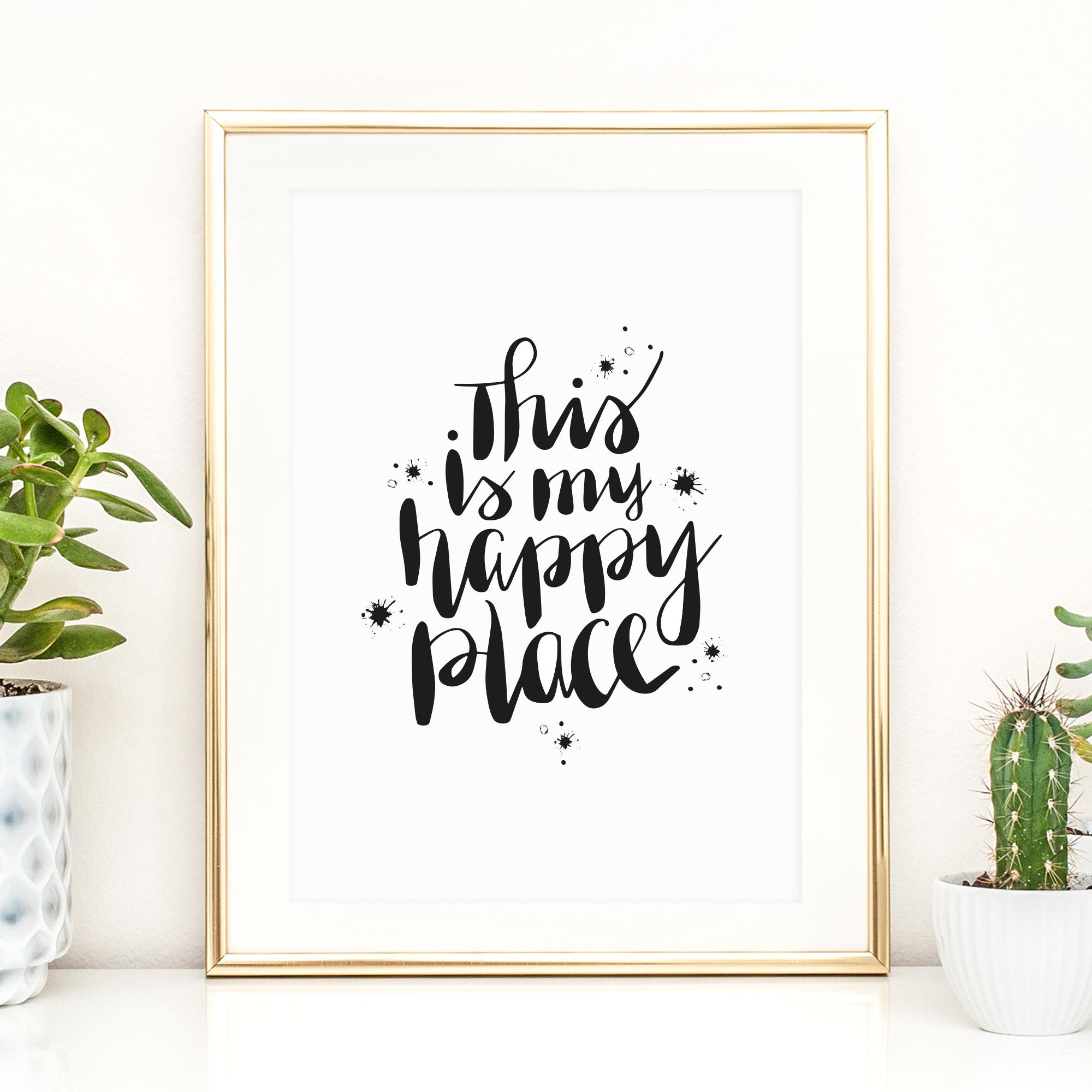 Tales by Jen Art Print This is my happy place