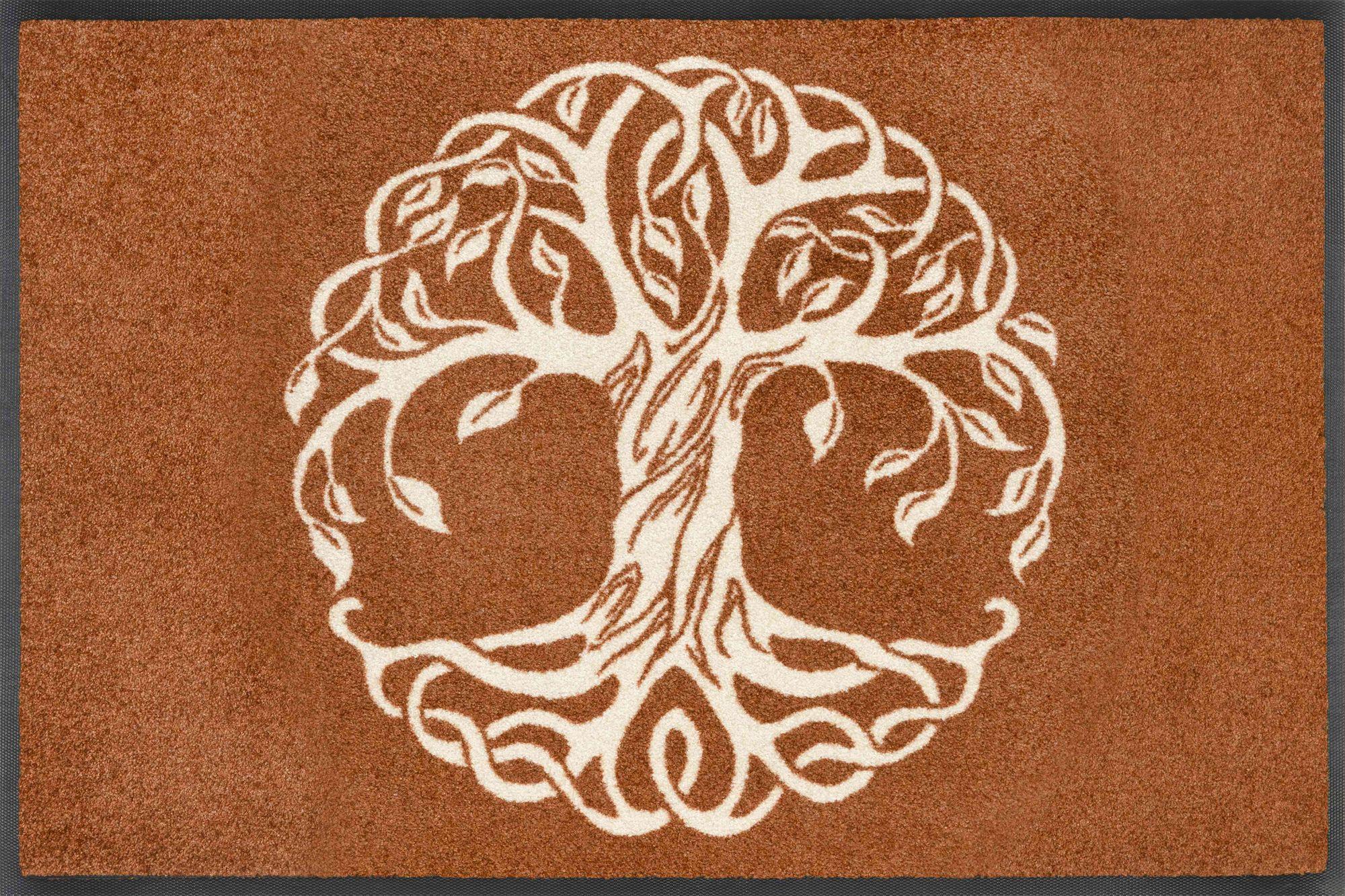 Waschbare Fußmatte Mandala Baum des Lebens 50 x 75 cm
